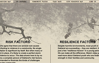 R&amp;D<sup>2</sup> collaborated closely with 49th Parallel Productions – new media journalists to fulfill the vision. The project was supported by the Oakland Tribune and Indie-Bay-Area.