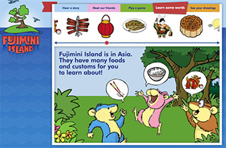 The Fujimini Book Series (ebooks, apps) are based around pan-Asian themes.