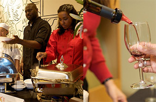 sf|noir expanded in 2008 to include the Wine & Food Event, bringing in chefs and wineries and featuring the Shrimp and Grits Taste Off.