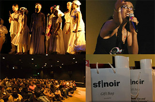 Venues have included Palace of Fine Arts, MoAD, Cowell Theater @ Fort Mason, YBCA, and the Metreon Action Theater. R&amp;D<sup>2</sup> worked with various sponsors. (Note the PG&E gift bags.)